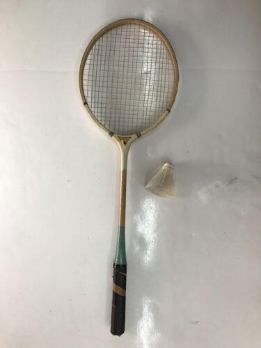 Racchetta volano badminton in legno vintage con volano Endura