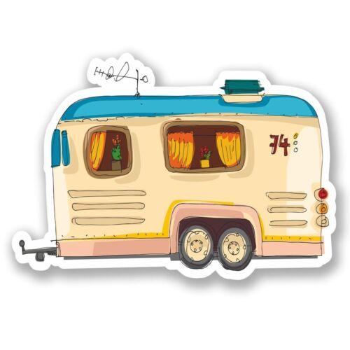 2 x Caravan Vinyl Sticker Laptop Travel Luggage Car #5413