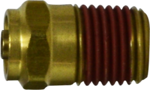 """1//2/""""T x 3//8/""""MPT D.O.T Brass Male Connector Push Lock"""
