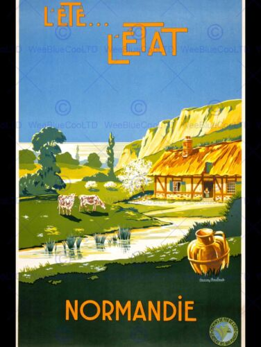 TRAVEL TOURISM NORMANDY FRANCE RURAL RUSTIC SCENERY NEW ART PRINT POSTER CC2948