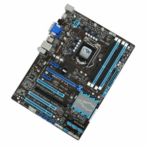 US Shipped For Asus P8Z77-V LX Intel Z77 LGA1155 Desktop Motherboard& I//O Shield