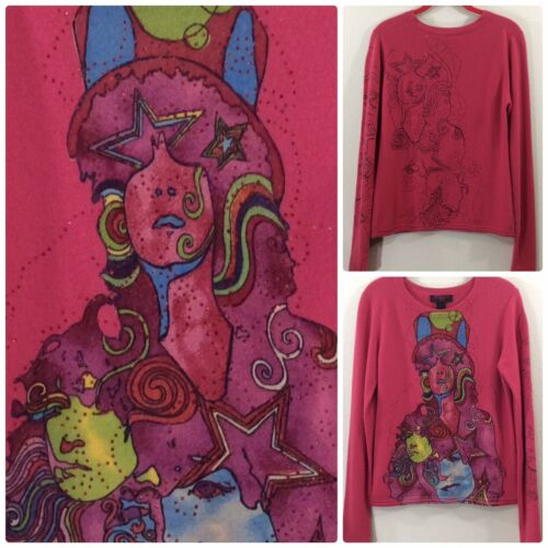 Raw 7 Marc Bolan 100% Cashmere Sweater Large Pink