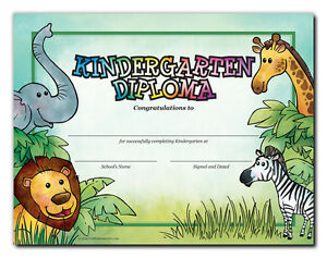 kindergarten diploma jungle cool school studios package of 25