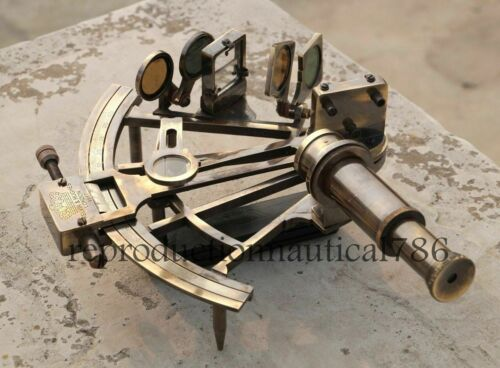 Nautical KELVIN /& HUGHES Solid Brass Astrolabe Working Sextant Maritime Decor