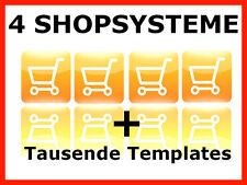 4x Webshop Shopsystem Shop Onlineshop Shopsoftware Web Projekt Webprojekt 1A MRR