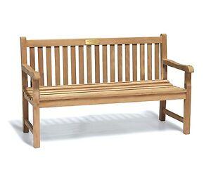 Image Is Loading York ASSEMBLED Teak Park Garden Bench 1 5m