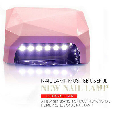New Portable 36W LED Lamp Nails Dryer Diamond Shaped Nail Lamp Nail Dryer