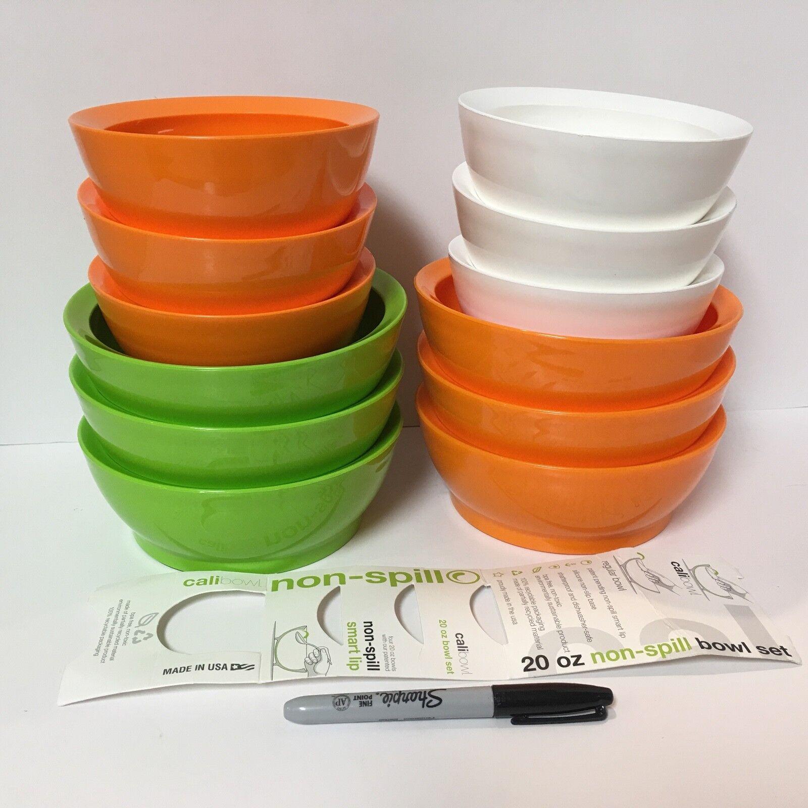 12 CaliBowl MULTI Farbe Non-Spill,  Non-Slip Bowls--ship free