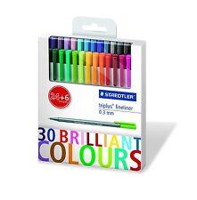 STAEDTLER New Triplus Fineliner 0.3mm Set of 30 Brilliant Colors