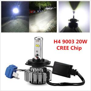 1Pcs H4 9003 20W CREE Chip Motorcycle Bike LED Headlight Hi-Lo 6000K 3000LM Bulb 7328502205321