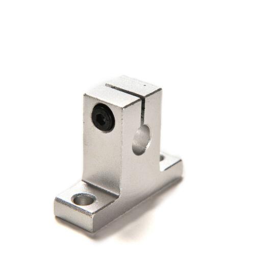 2 Pcs SK8 8mm Bearing CNC Aluminum Linear Rail Shaft Guide Support HV