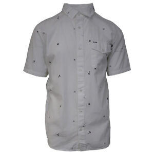 Vans-Off-The-Wall-Men-039-s-Bright-White-Cross-Hatch-J-S-S-Woven-Shirt-Retail-44