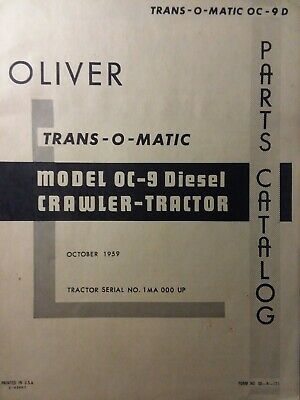 oliver diesel tractor wiring diagram oliver trans o matic oc 9 diesel crawler tractor parts manual  diesel crawler tractor parts manual