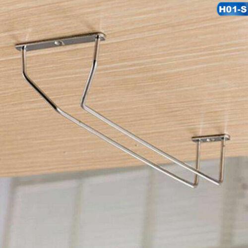 Stainless Steel Wine Glass Rack Hanging Stemware Holder Hanger Bar Pretty Trend