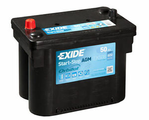 Batteria-EXIDE-EK508-AGM-50AH-800A-START-amp-STOP-FIAT-JEEP-LANCIA-INFINITI-DODGE