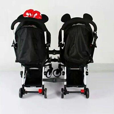 Detalles de Convertidor Doble Twin Cochecito Buggy Silla de paseo Babyzen YoYo compatible ver título original