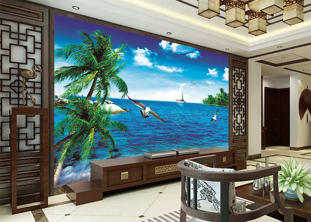 Vitality Of Blau Sea 3D Full Wall Mural Photo Wallpaper Printing Home Kids Decor