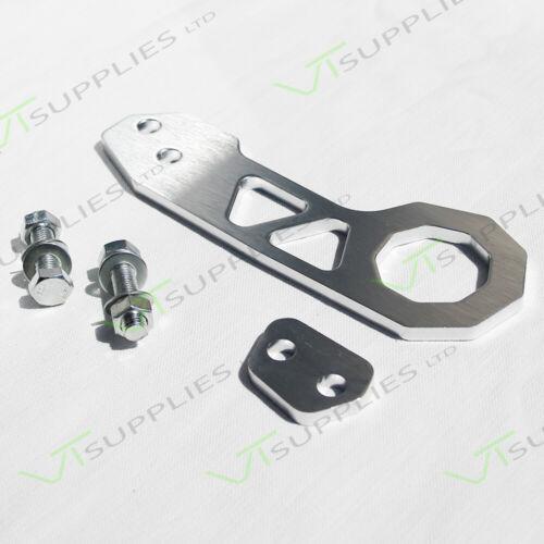 Argent Universal JDM Arrière Racing Tow Hook-TOP qualité BILLETTE D/'Aluminium
