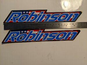 NOS VINTAGE ROBINSON WHITE LOGO BMX STICKER DECAL