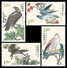 Sellos Stamp timbre china 2014-2 Birds of Prey Eagle Kestrel Goshawk set