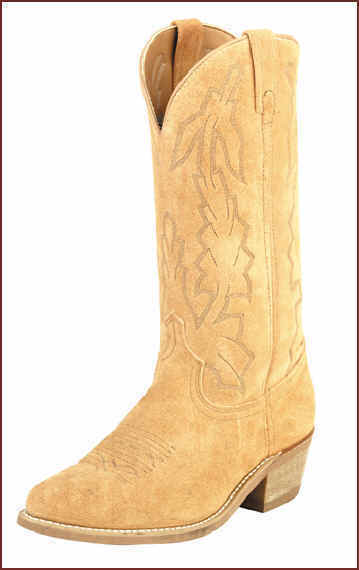 American West 68216 Natural Suede Cowboy Size 7 D NEW