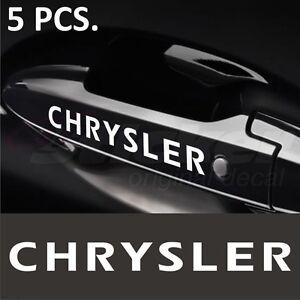 Chrysler Stickers decals for Door Handles 300C 300M Concorde ...