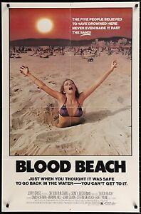 BLOOD-BEACH-1981-Movie-Poster-27x41-MoviePoster-JohnSaxon-Horror-BMovie