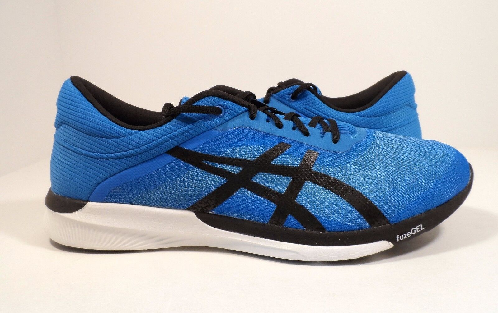 ASICS Men's FuzeX Rush Running shoes Aqua Splash Black Diva bluee Size 7.5