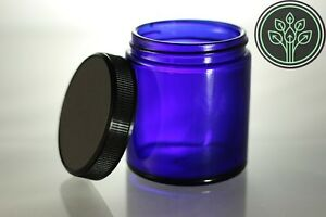 Image Is Loading Cobalt Blue Glass Jar Kitchen Apothecary Herb Storage