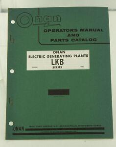 Vintage ONAN LKB Series Generator GenSet Operators Manual