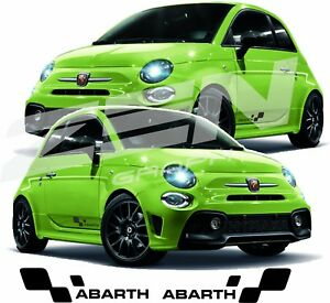 Details About Fiat 595 500 Abarth Lower Side Decals Stickers 695 Turismo Competizione