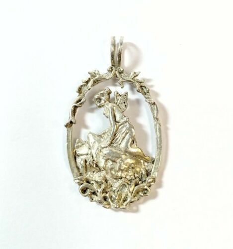 Lovely Milifiori Oval Pendant on Sterling Chain