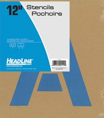 HEADLINE Sign 112 Stencil Set 12inch Capital Letters a to Z for sale online
