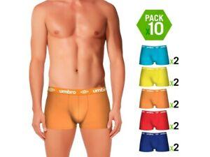 Pack 10 calzoncillos UMBRO en varios colores