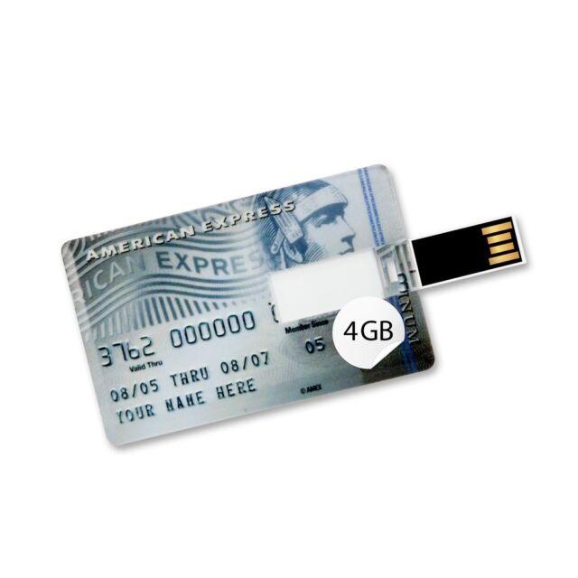 4 GB Speicherkarte in Scheckkartenform American Express Platinum II  Card USB