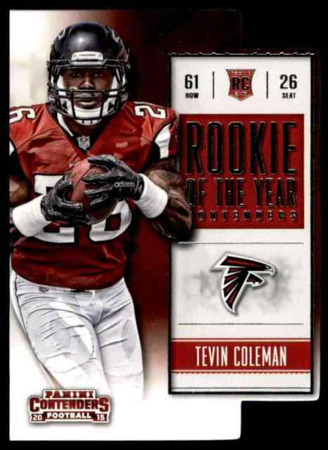 2015 PANINI CONTENDERS ROY DIE-CUT TEVIN COLEMAN RC FALCONS #ROY13