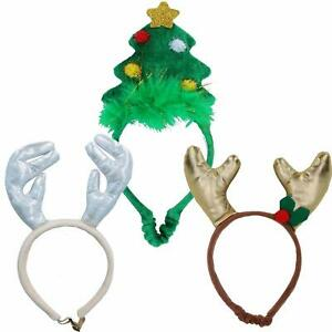 3PK Dog Humorous Novelty Christmas Headband - 2 SIZES/3 DESIGNS
