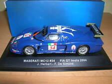Ixo Maserati MC12 FIA GT Imola 2004 J. Herbert - F. de Simone, #34  1:43