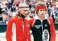Bjorn Borg and John McEnroe Wimbledon Rivals POSTER
