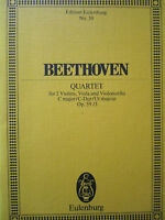 BEETHOVEN Quartet in C major Op.59/3  Eulenburg Score No.30 2 vlns., vla & cello