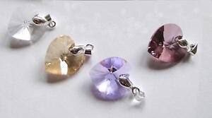 Wunderschöner 18 mm großer Herzanhänger *Farbwahl* mit SWAROVSKI® Kristall
