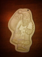 Brown Bag Cookie Art Co. 1983 - Cookie Mold -santa Claus - Hill Design. Inc
