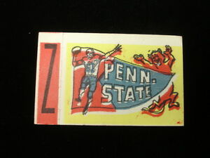 1961 Topps Flocked Sticker Insert - Penn State Nittany Lions