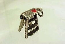 Vintage Sterling Movable STEP UP TO MY LADDER Red Heart Charm