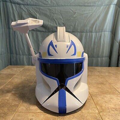 2008 hasbro star wars captain rex clone trooper talking voice changer helmet | ebay