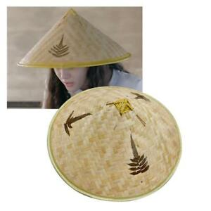 Image is loading Chinese-Oriental-Vietnamese-Straw-Bamboo-Sun-Hat-Farmer- 1d30979cd838