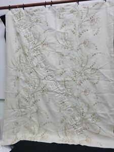 Pottery Barn Flora Embroidered Drapes Curtains Panels