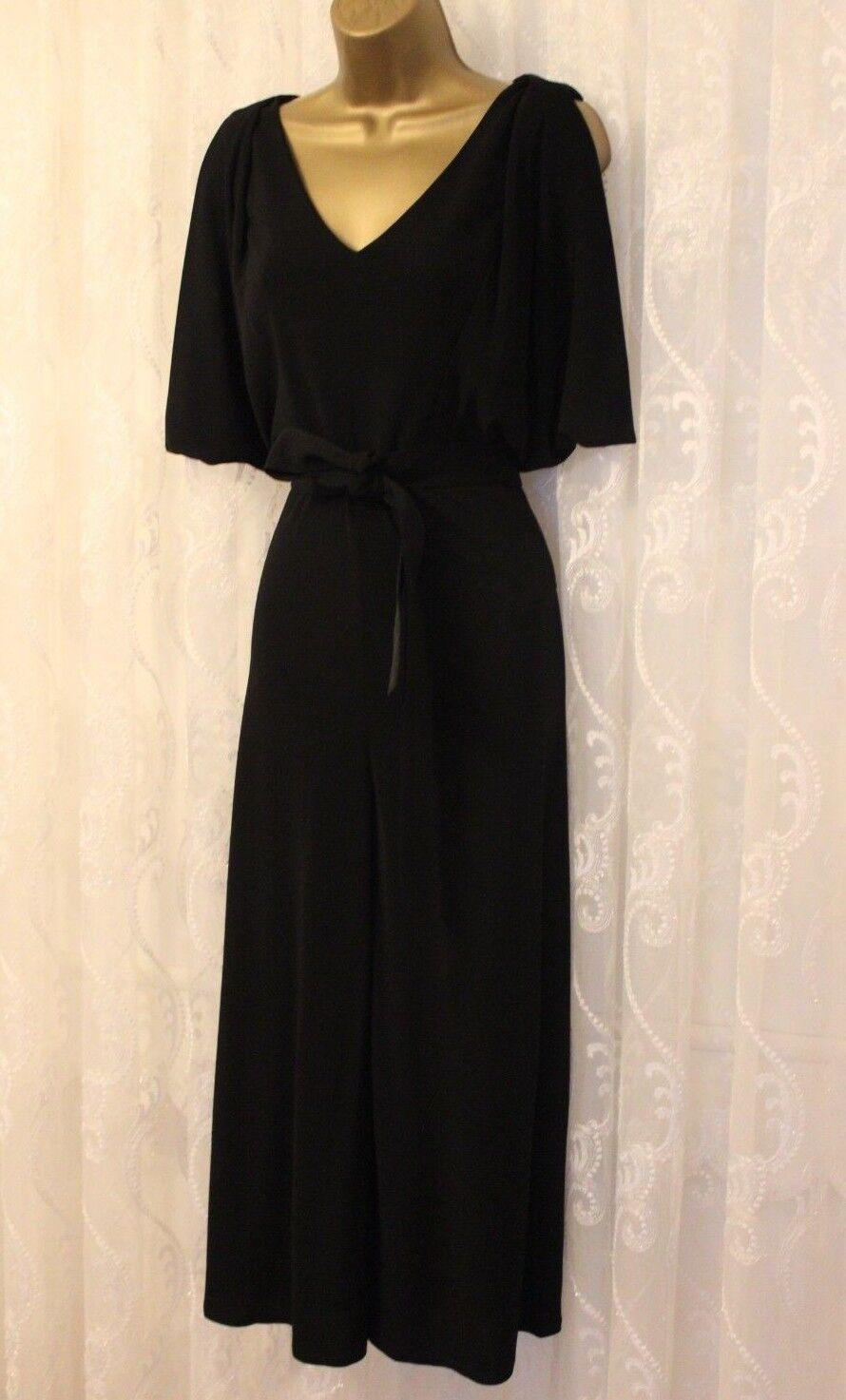 Karen Millen Slinky Wide Leg Culotte Belt Jumpsuit All In One Dress 10 38 PB007