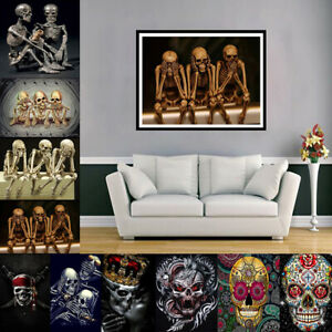 Skull-DIY-5D-Diamond-Painting-Embroidery-Cross-Stitch-Kits-Home-Decor-New
