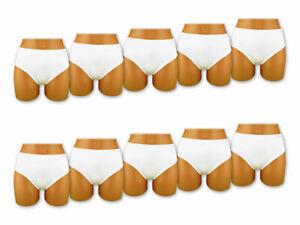 5-30-Unidad-Mujer-Slips-Microfibra-Blanco-Ropa-Interior-Bragas-Pants-M-L-XL-XXL